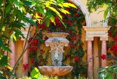 Nice, France- June 17, 2014: landscape garden Villa Ephrussi de Rothschild stock photos