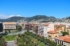 Promenade des Arts, Acropolic center, and Nice views, France Royalty Free Stock Photos