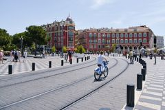 Place Massena in Nice, France Royalty Free Stock Images