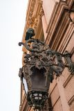 Nice, France. Lantern on the facade of the Opera House Royalty Free Stock Photo
