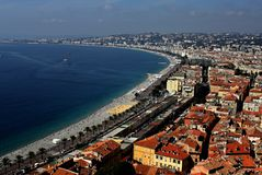 Nice, France on the mediterranean coast Stock Photo