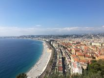Nice, France. Nice landscape from above royalty free stock photos