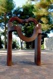 Nice, France - October 22, 2011. Foundation Maeght. Eduardo Chillida.  Sculpturs in outdoor garden. Royalty Free Stock Image