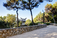 Nice, France - October 22, 2011. Foundation Maeght. Sculpturs in outdoor garden. Royalty Free Stock Image