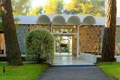 Nice, France - October 22, 2011. Foundation Maeght. Sculpturs in outdoor garden. Stock Photos
