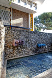 Nice, France - October 22, 2011. Foundation Maeght. Sculpturs in outdoor garden. Royalty Free Stock Photo