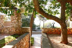 Nice, France - October 22, 2011. Foundation Maeght. Sculpturs in outdoor garden. Royalty Free Stock Images