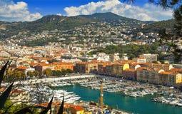 Marina in Nice Royalty Free Stock Photography