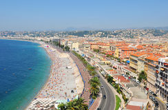 Nice, France. Panorama of the old city of Nice in France Royalty Free Stock Photography