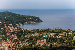 Nice, France: panoramic top view of surrounding hills Stock Photo