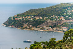 Nice, France: panoramic top view of surrounding hills Stock Image