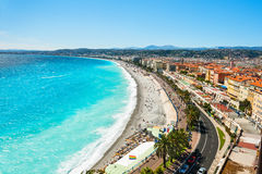 Nice, France. Panoramic view of Nice, France royalty free stock photos