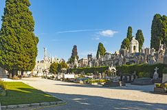 Nice, France. September 2, 2014: The graveyard at Cimetière du Château, which was founded in 1783, where some of Nice`s most famous people lie buried stock photography