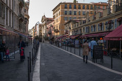 Nice France Street Scene Royalty Free Stock Images