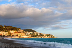 Nice (France) at sunset Royalty Free Stock Image