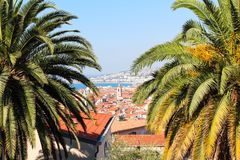 Nice, France - 16.09.16: The top view on Promenade des Anglais, one of the most beautiful embankments of Europe Royalty Free Stock Photo