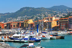 Nice, France. View of port in Nice, France Stock Photos