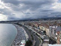 Nice France view stock photos