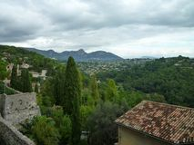 Nice, France village. Photo taken from a highpoint in a French village in Nice Royalty Free Stock Photo
