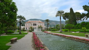 Nice, France in a wonderful pink and perfect garden pavilion Royalty Free Stock Photo