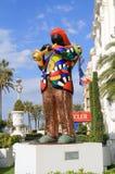 Nice, Frankrijk: Niki de Saint Phalle Sculpture van Miles Davis Royalty-vrije Stock Afbeelding