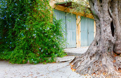 Nice, Frankrijk - Oktober 17, 2011: Renoirmuseum dichtbij Nice, Frankrijk Cagnes-sur-Mer - dorp Het huis waar Renoir durin verble Stock Afbeeldingen