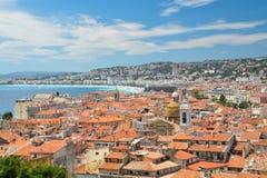 Nice, Frankrijk - panorama Stock Afbeelding