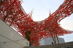 Nice Frankrike - Juni 14, 2014: Museum av modernt och samtida konst i Nice arkivfoton