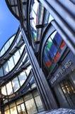 Nice Frankrike - Oktober 17, 2011: Arkitektonisk detalj av museet av samtida konst fotografering för bildbyråer