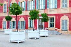 Nice Frankrike - Oktober 17, 2011: Matisse museum - tidigare Genoese villa av det 17th århundradet Fotografering för Bildbyråer