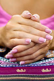 Nice french manicure Royalty Free Stock Image