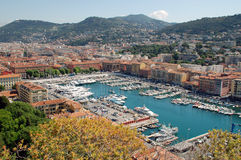 Nice, French Riviera. Lympia port of Nice, French riviera Royalty Free Stock Photos