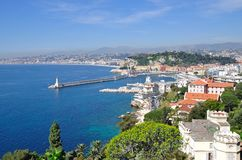Nice,French Riviera. View of Nice on the french Riviera,South of France Royalty Free Stock Photography