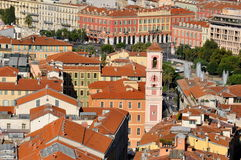 Nice, French riviera. France, french riviera, NICE,  the Horloge tower  and Massena arcades Stock Images