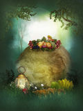 Nice fresh fruits in the forest Royalty Free Stock Photos