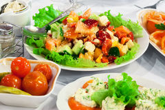 Nice fresh salad Stock Images