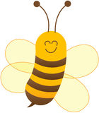 Nice friendly bee posing and smiling Stock Photography