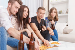Nice friends having party Royalty Free Stock Photo