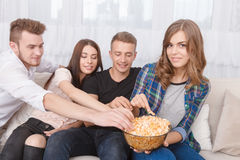 Nice friends having party Stock Photo