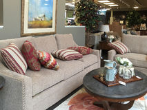 Nice furniture store interior Stock Photos