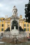 Nice - Garibaldi Statue Royaltyfri Fotografi