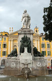 Nice - Garibaldi Statue Royalty Free Stock Photography