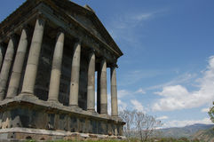 Nice Garni Temple in armenia near yeveran under the sky. Nice Garni Temple in armenia near yeveran Royalty Free Stock Photo