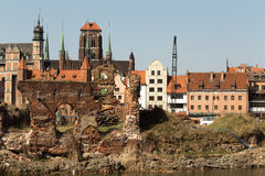 Nice Gdansk view. Royalty Free Stock Images