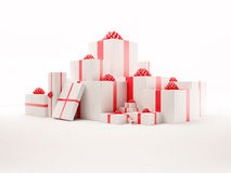 Nice Gift Boxes Set Royalty Free Stock Photo