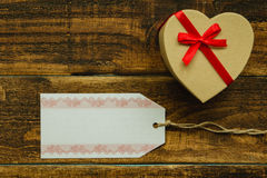 Nice gift with red ribbon. For Valentine´s Day Stock Photo