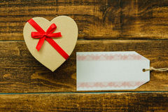 Nice gift with red ribbon. For Valentine´s Day Stock Photography