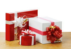 Nice gifts in the table Royalty Free Stock Photos