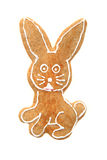 Nice gingerbread rabbit Royalty Free Stock Photography