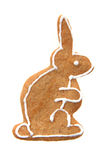 Nice gingerbread rabbit Stock Photography